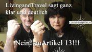 livingandtravel sagt nein zu Artikel 13!
