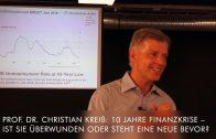 Prof. Dr. Christian Kreiß: 10 Jahre Finanzkrise – ist sie überwunden oder steht eine neue bevor?