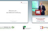 Welt Rheuma Tag 2016 – Rheuma & Effekt von Ernährung (Dr. med. P. M. Aries)